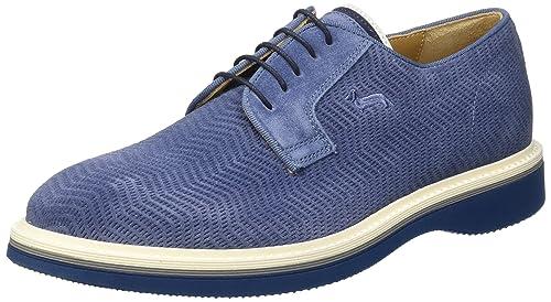 Harmont & Blaine Derby, Sneaker Uomo, Blu (Dark Blue), 42 EU