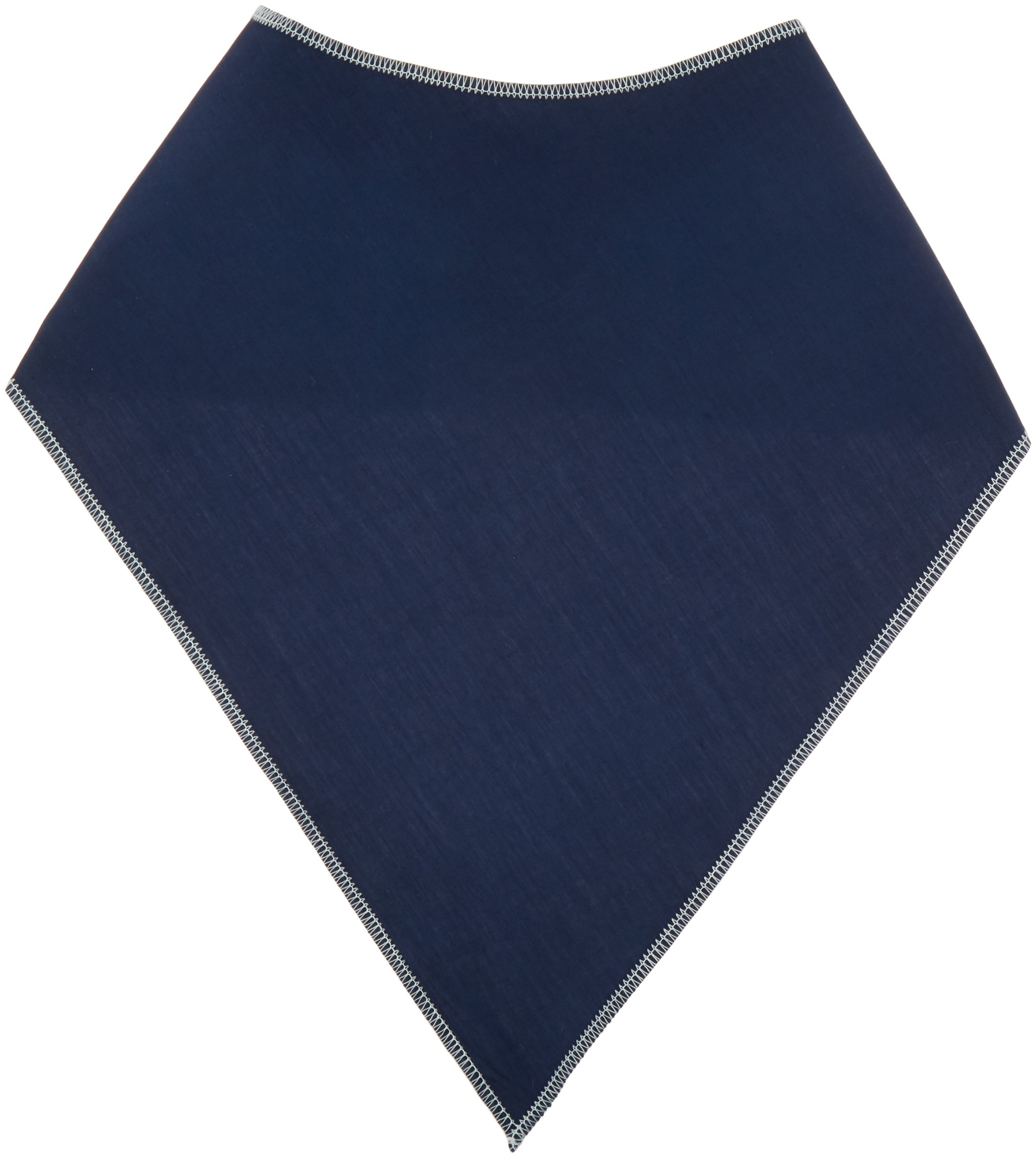 Sammons Preston Bandanna Clothing Protector, Bandanna Bib, 10'' Mid-neck to Tip & 14-1/2'' Wide, Navy, Made Breathable 100% Cotton, Spill-proof Backing For Accident Safety, Adult Size, Combats Drooling
