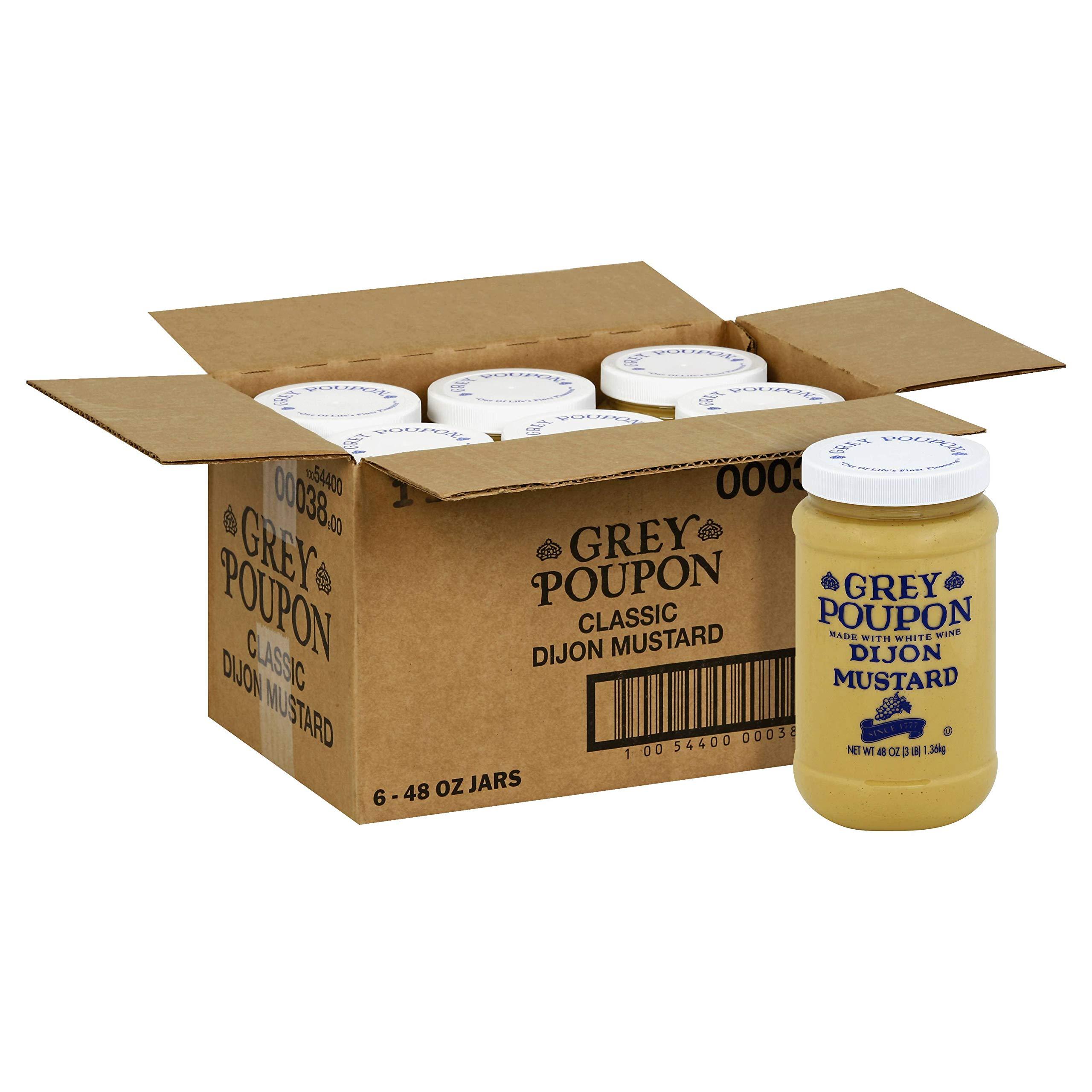 Grey Poupon Classic Dijon Mustard 6 Case 48 Ounce
