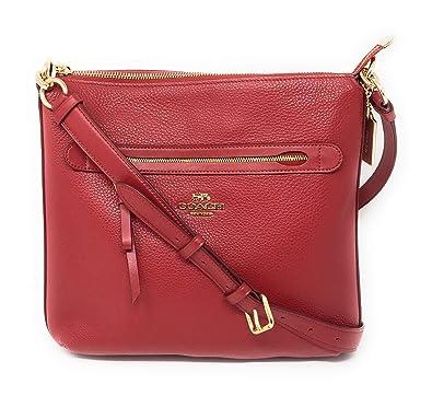 1960c5c7db Coach Mae Crossbody Pebble Leather Bag (Red): Handbags: Amazon.com