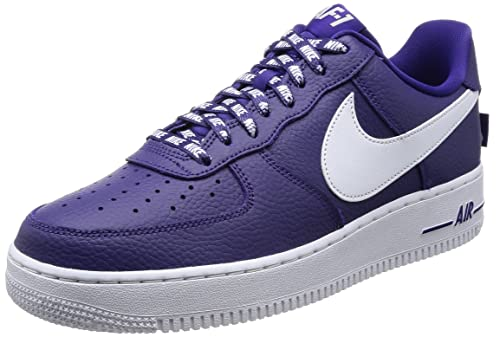 finest selection f21d7 fcdef Nike AIR Force 1  07 LV8 Mens Fashion-Sneakers 823511-501 10 - Court  Purple White  Buy Online at Low Prices in India - Amazon.in