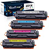 Valuetoner Compatible Toner Cartridge Replacement for HP 201X 201A CF400X CF401X CF402X CF403X CF400A for Color Laserjet…