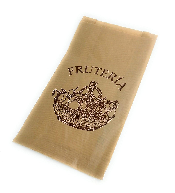 Bolsa de papel kraft para tu comercio, fruteria: Amazon.es ...