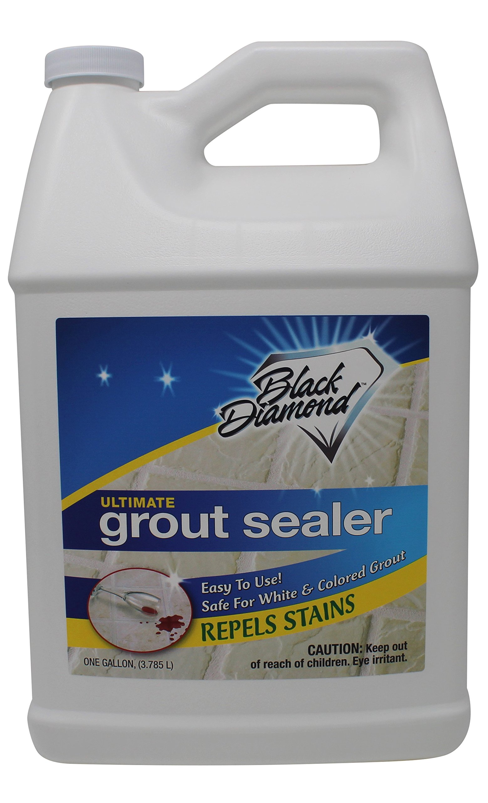 Black Diamond Stoneworks Ultimate Grout Sealer: Stain Sealant Protector for Tile, Marble, Floors, Showers and Countertops. (1-Gallon)