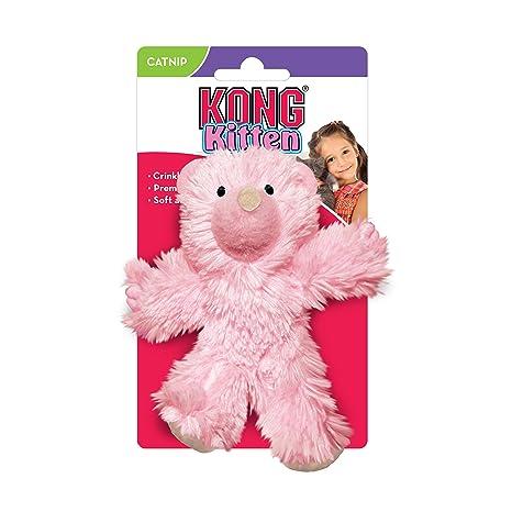 Kong JU03363 Juguete para Gatitos Oso Pastel