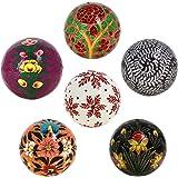 decorazioni ornamenti artigianale cartapesta appese palle set 6