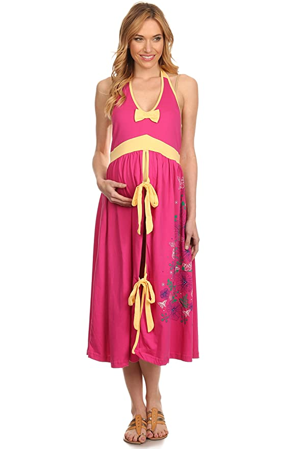 BellyMoms Soft Cotton Labor Delivery Hospital Birthing Gown (Bright ...