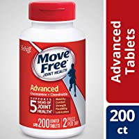 Move Free Glucosamine & Chondroitin Joint Health Supplement 200-Cts.Tablet