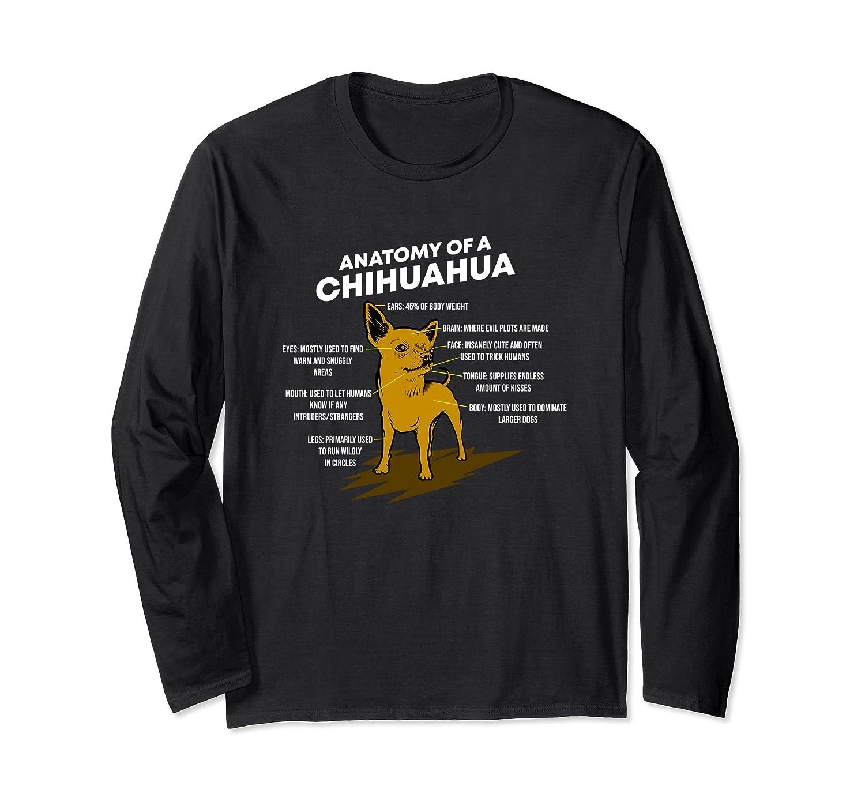 Amazon Anatomy Of A Chihuahua T Shirt Dog Lover Long Sleeve