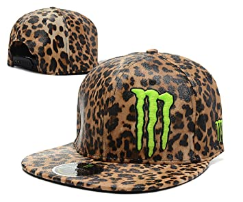 8ff11395e84 Jennifer collee Memorable Monster Energy Edition Leopard Style Adjustable  Snapback Hat Cap
