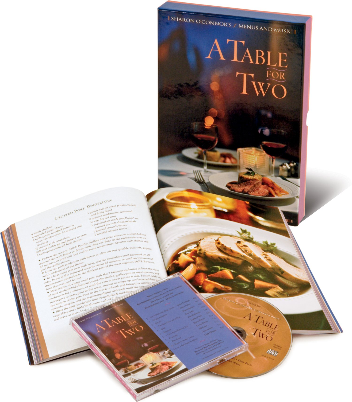 Download A Table for Two: Recipes from Celebrated City Restaurants; Romantic Jazz Ballads by the Kenny Barron Ensemble (Cookbook & Music CD Boxed Set) PDF