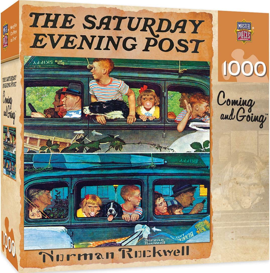 MasterPieces Saturday Evening Post Jigsaw Puzzle, Norman Rockwell Coming and Going Collage, 1000 Pieces