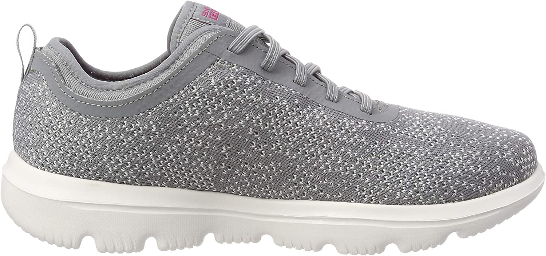 Skechers Go Walk Evolution Ultra-mirab, Zapatillas para Mujer Gris Grey Pink Gypk
