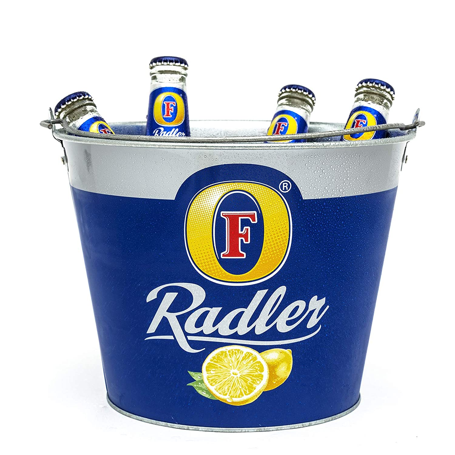 3X Fosters Radler Ice Bucket Metal Branded Official Party New Genuine 8 Bottle Handle