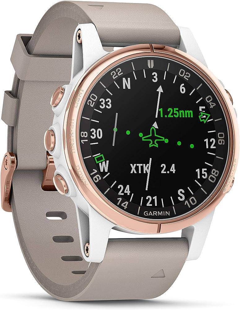 Garmin Smartwatch D2 Delta S Sapphire Aviator Oro Rosa con banda ...