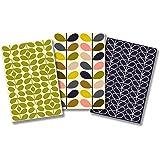 Orla Kiely Mid-Century Stems Pocket Notebook Trio Cards