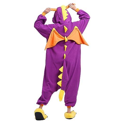 Amazon.com: PALMFOX Womens Dragon Plush Animal Adult Onesie Pajamas Cosplay Costumes: Clothing