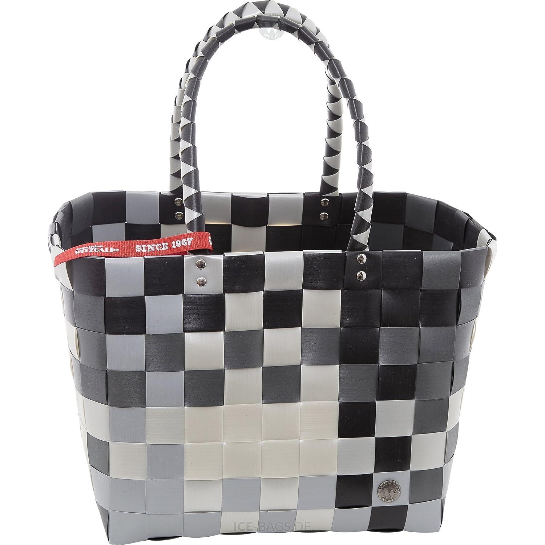 ICE-BAG Shopper 5010-52 Klassiker Original Witzgall Einkaufstasche Einkaufskorb - schwarz, grau, silber