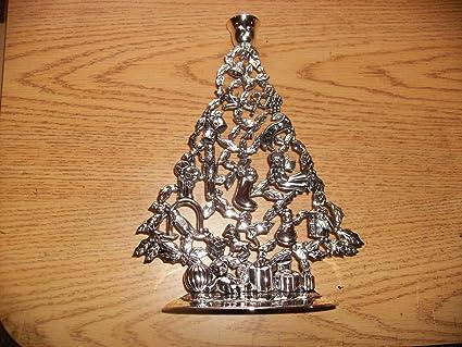 Christmas Tree Candle Holder.Amazon Com Godinger Silverplated 11 Christmas Tree Candle