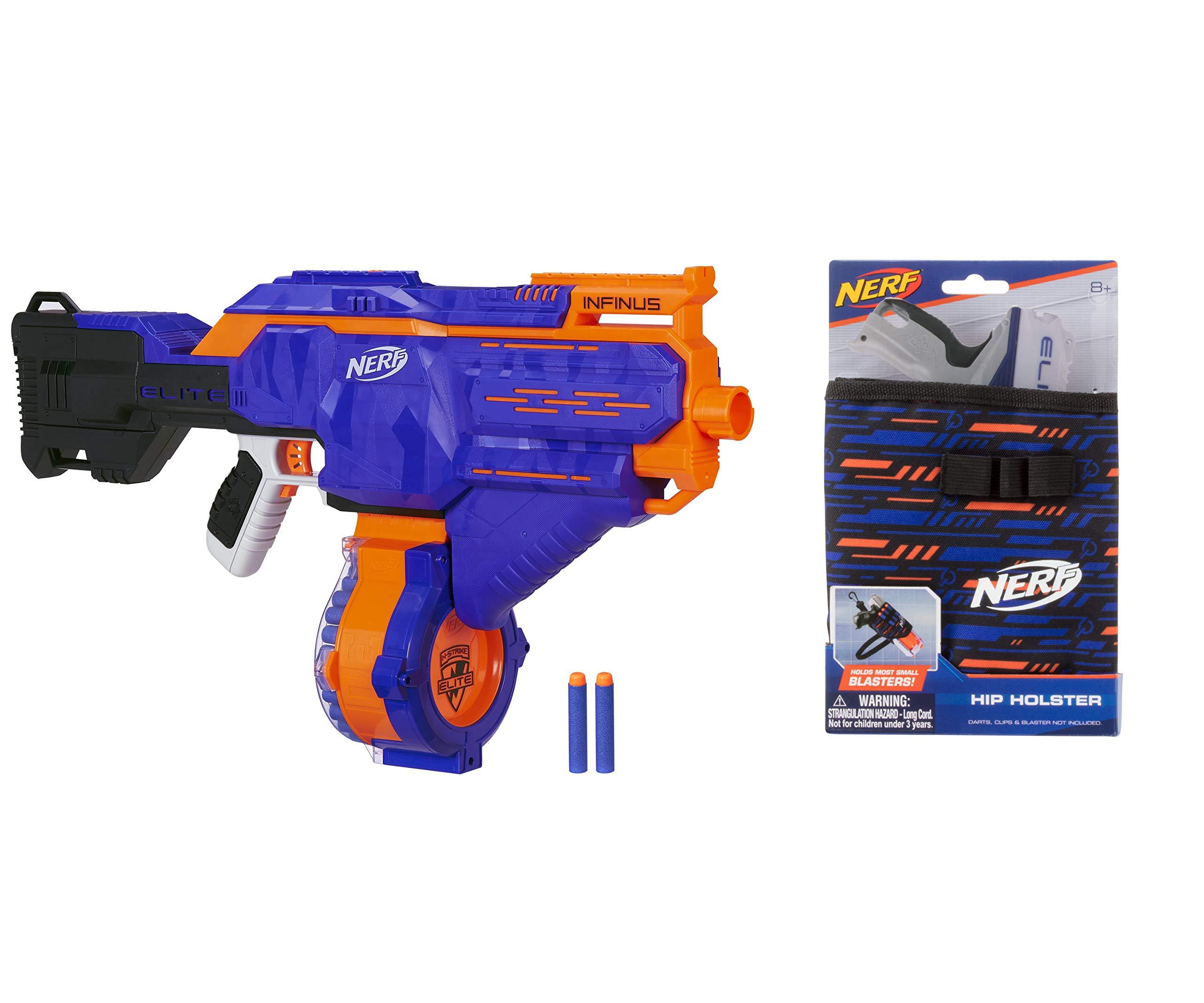 NERF N-Strike Elite Infinus with Speed-Load Technology Bundle Elite-Hip Holster