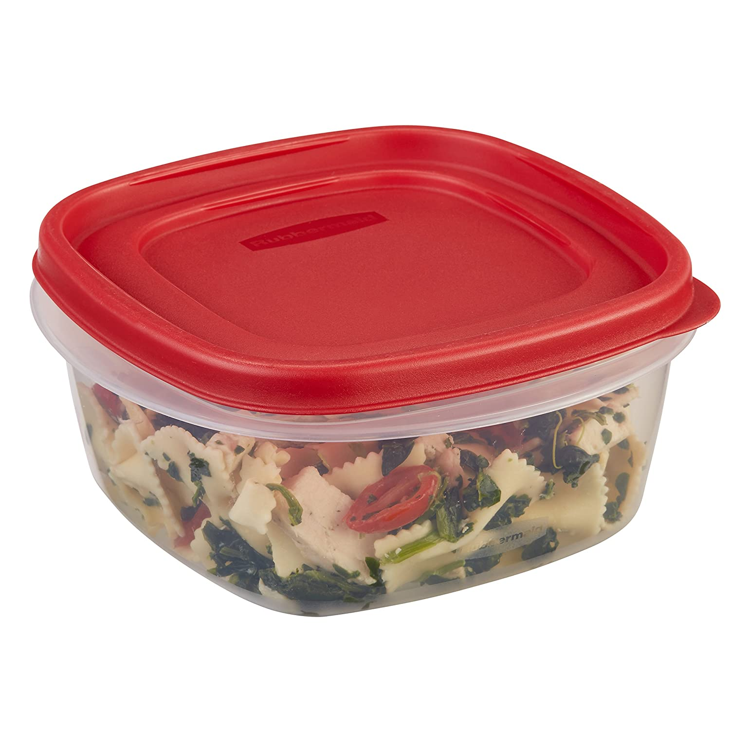 Rubbermaid Easy Find Lids Food Storage Container, 5 Cup, Racer Red 1777087