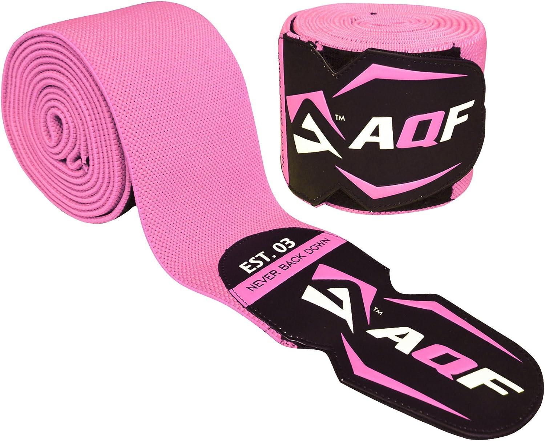 AQF Genouill/ère Rotulienne avec Une Sangle De Maintien /Élastique Bandage /Épais Sangles /Élastiques pour Musculation Squat Genouillere Sport