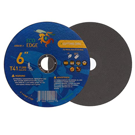 Eco Edge 25-Pack 4.5-Inch Cut Off Wheel for Aluminum Type 41 Size 4-1//2x0.045x7//8 Double Reinforced Superior Cutting Wheel for Angle Grinder Superior Cutting Wheel for Aluminum