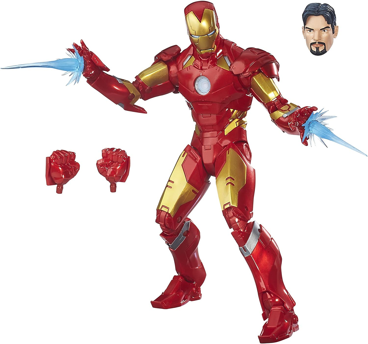Avengers- Marvel Legends Figura Iron Man, Multicolor (Hasbro ...