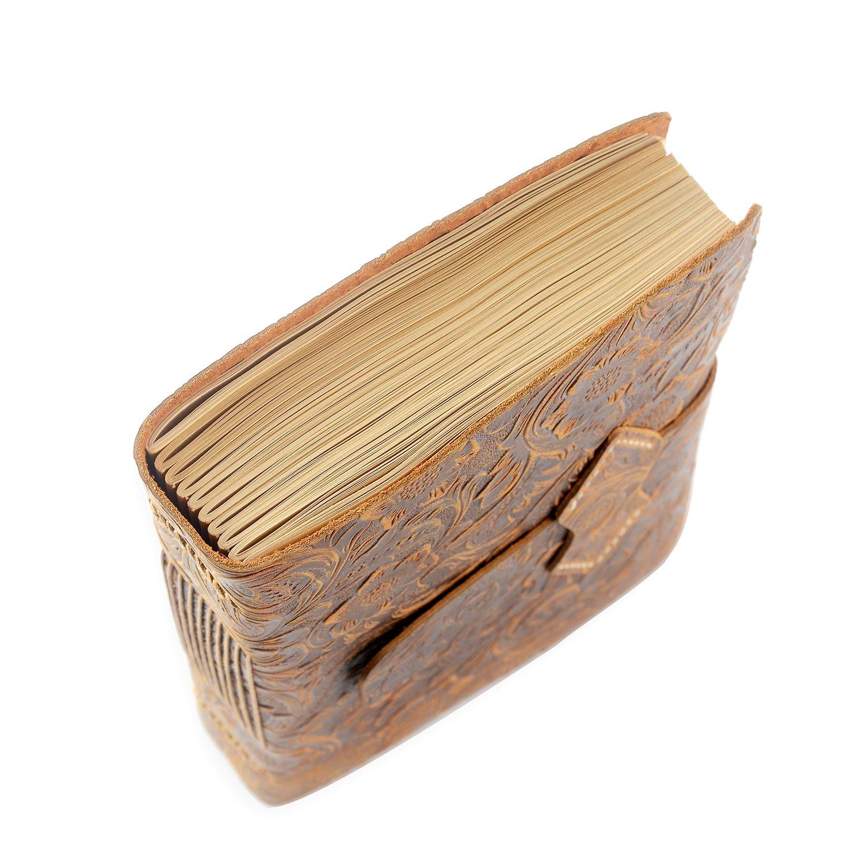 /Antique fait /à la main en cuir reli/é quotidienne Bloc-note/ /Vierge papier Medium 20/x 15/cm/ Scrodcat Cuir Journal A5/bloc-notes/ /Cadeau id/éal Voyage Homme//Femme//voyage