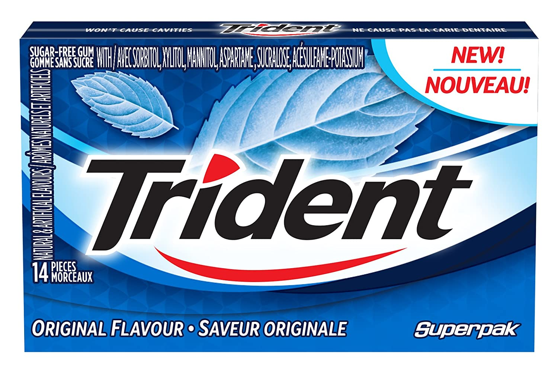 Trident Chewing Gums, Original, 14 Count Mondelez
