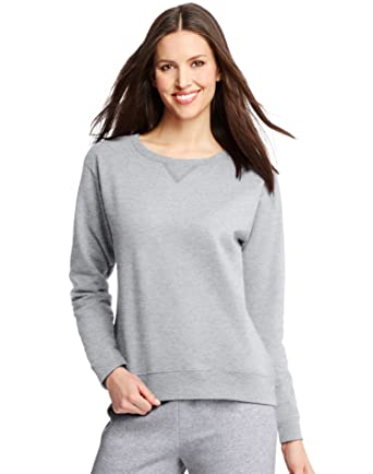 04a5de424149 Amazon.com  Hanes ComfortSoft EcoSmart Women s Crewneck Sweatshirt  Clothing