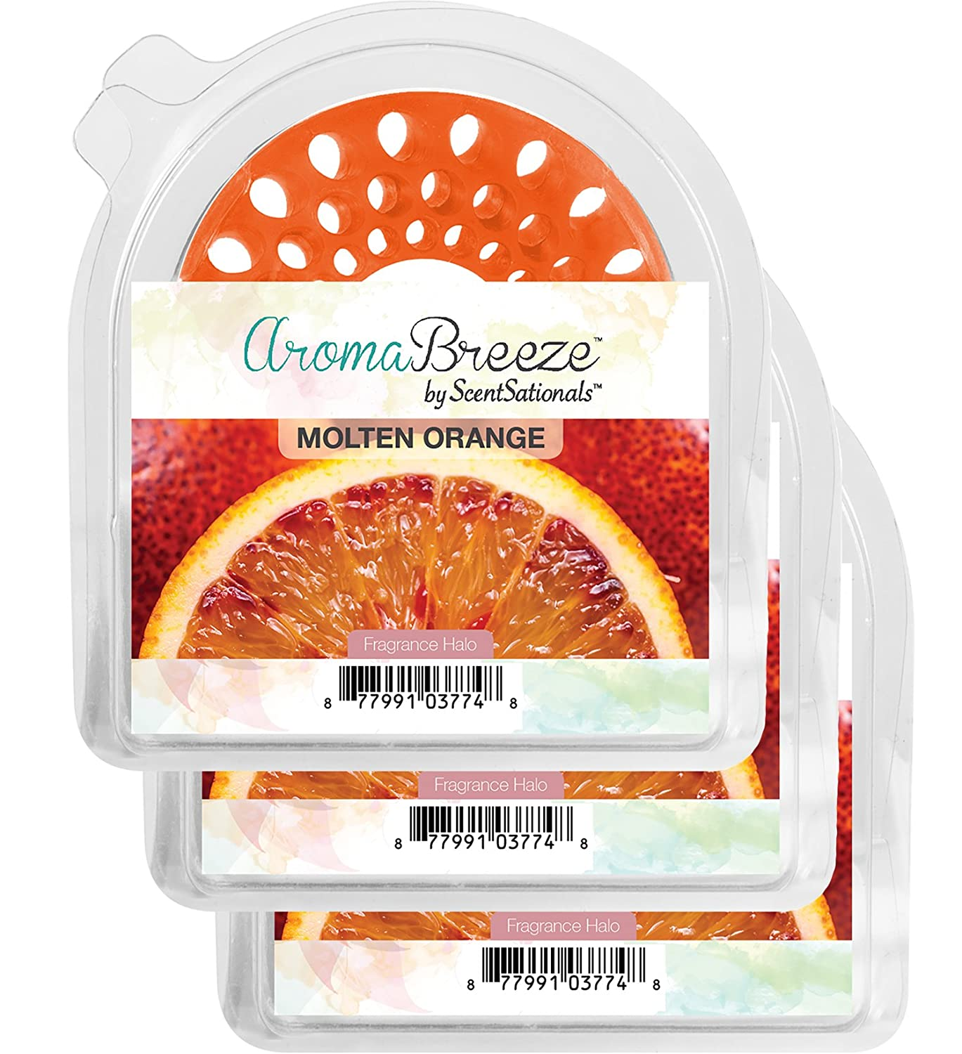ScentSationals AromaBreeze Fragrance Halos (Molten Orange)