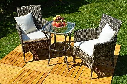3 piezas. Conjunto de muebles de jardín