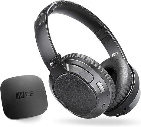 MEE Audio Connect T1CMA - Sistema de auriculares inalámbricos con Bluetooth para TV con mejora de audio