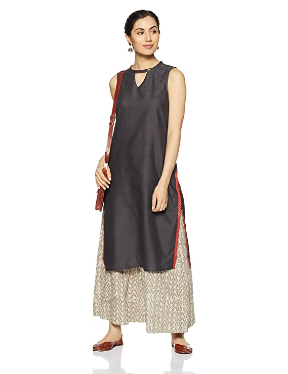 Aurelia Women's Straight Kurta Kurtas & Kurtis at amazon