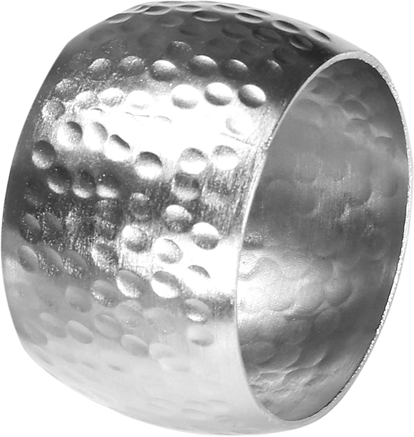 Hammered Napkin Ring S//12 Silver Life By Cotton 37569 Metal