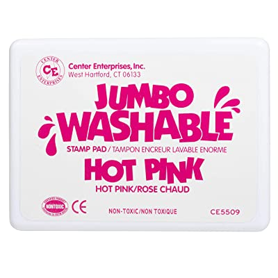 Center Enterprise CE5509 Jumbo Washable Stamp Pad, Hot Pink: Toys & Games