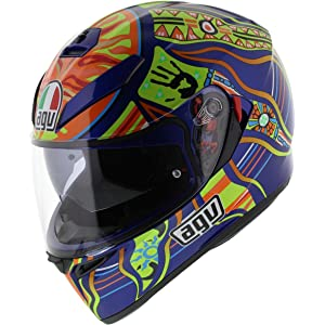 Amazon.com: AGV Unisex-Adult Full-face-Helmet-Style K-3 SV 5 ...