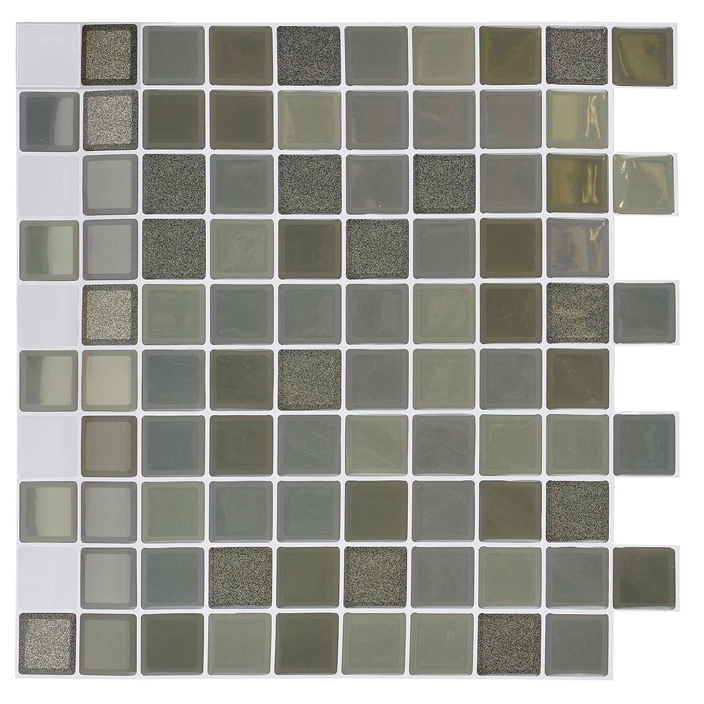 Clever Tiles Stickers Khaki Squares 30x30cm Sabar
