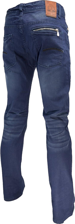 JAYLVIS pz1220 - Pantalones Vaqueros para Hombre, Color Azul