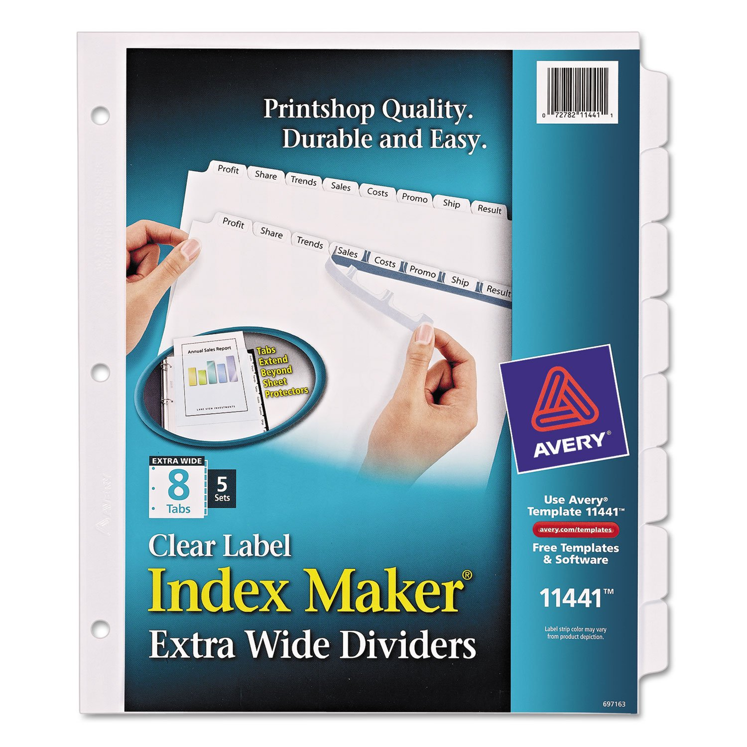 AVE11441 - Avery Index Maker Extra-Wide Tab Dividers