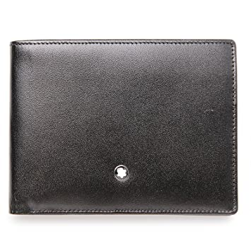 2395d819ef9 MONT BLANC Black Men s Leather Wallet  Amazon.in  Bags