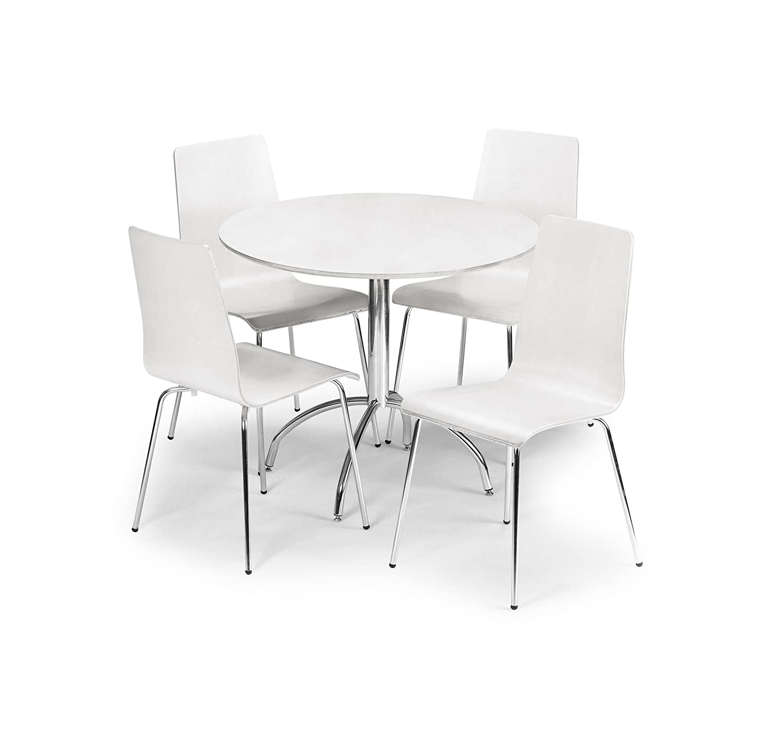 Julian Bowen Mandy Dining Table Set With 4 Chairs White Amazoncouk Kitchen Home