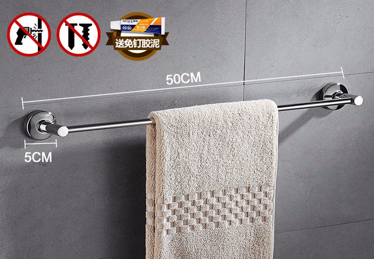 Baño rack, sin perforación, acero inoxidable 304 toallas / polo polo colgantes, extended wc, monopolar, Toalla de baño estante colgante,30cm estilo 1: ...