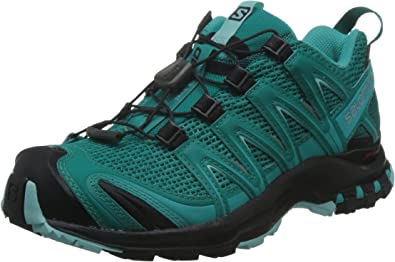 Salomon L39327000, Zapatillas de Trail Running para Mujer, Azul (Deep Peacock Blue/Black/Aruba Blue), 37 1/3 EU: Amazon.es: Zapatos y complementos