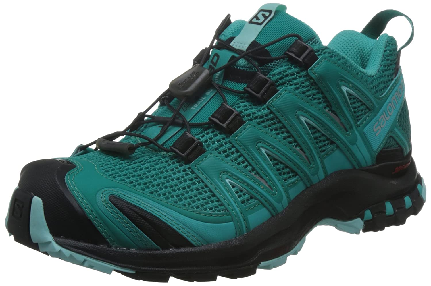 Salomon Mujer Zapatillas de Running y Trail Running XA Pro 3D 41 1/3 EU|Azul (Deep Peacock Blue/Black/Aruba Blue)