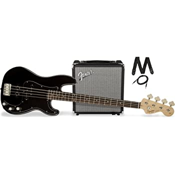squier by fender pj electric bass guitar beginner pack with rumble 15 amplifier. Black Bedroom Furniture Sets. Home Design Ideas