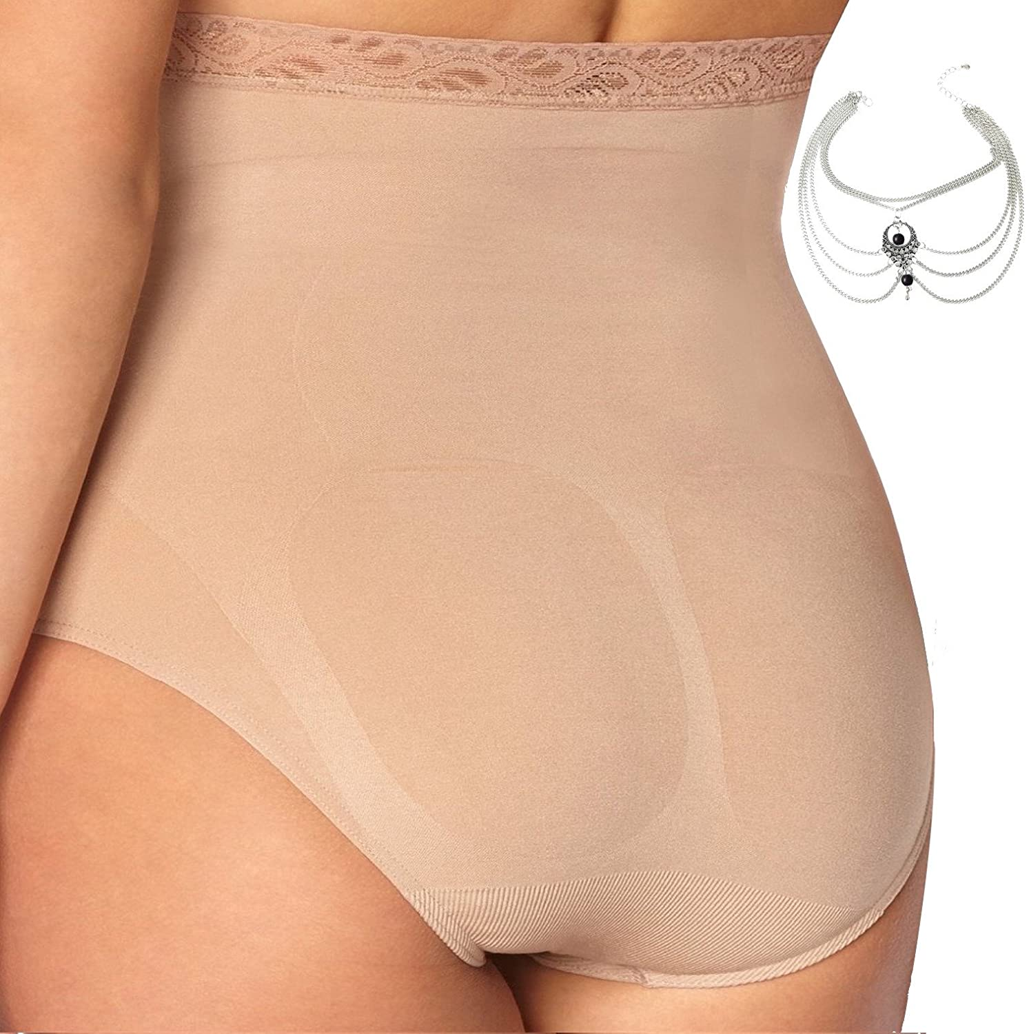 91f1d35391ce Body Wrap Plus Size High Waist Seamless Panty Brief Firm Control Shapewear  Women at Amazon Women s Clothing store