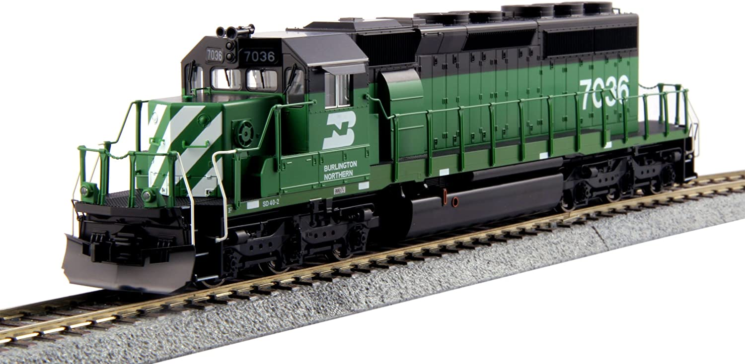 Kato USA Model Train Products HO EMD #7036 SD40-2 Mid Burlington Northern Standard Train