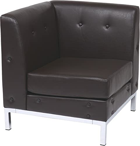 OSP Home Furnishings Wall Street Faux Leather Corner Chair - the best living room chair for the money